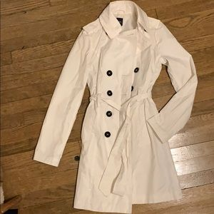 Express white trench coat. Size xs.